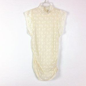 Free People Intimately Mock Neckline Lace Blouse